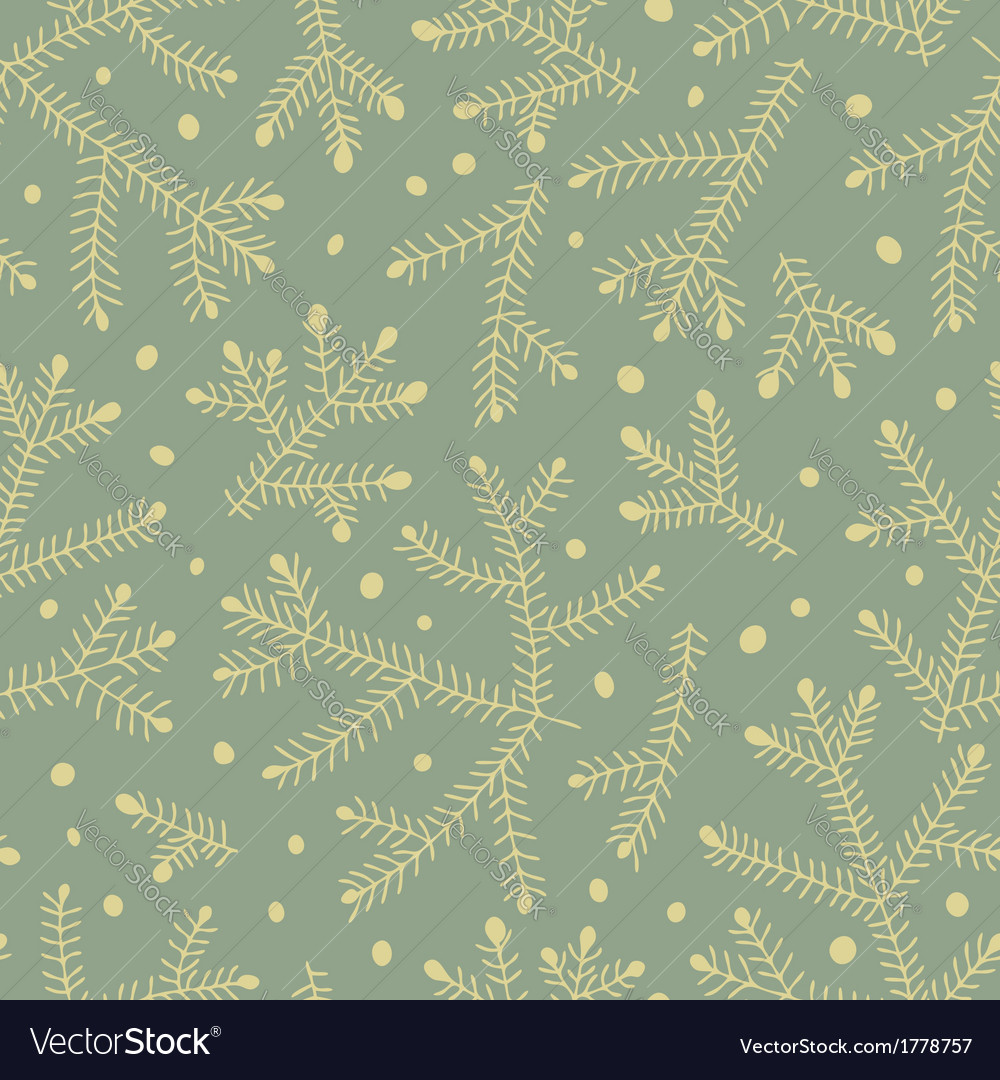 Seamless pattern with fir branches vector | Price: 1 Credit (USD $1)