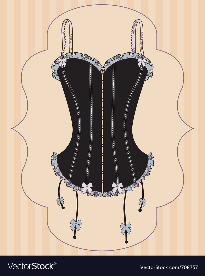 Sexy vintage corset vector | Price: 1 Credit (USD $1)