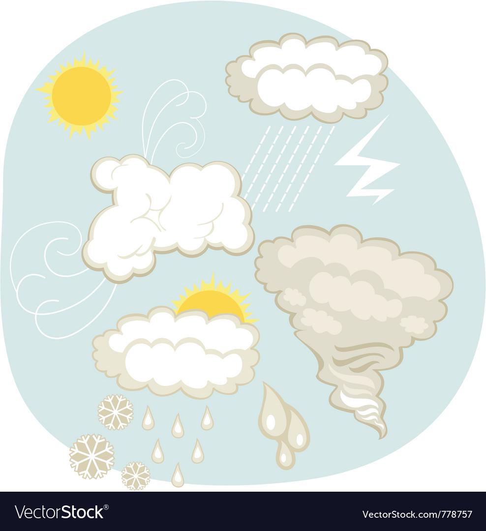 Weather set vector | Price: 1 Credit (USD $1)