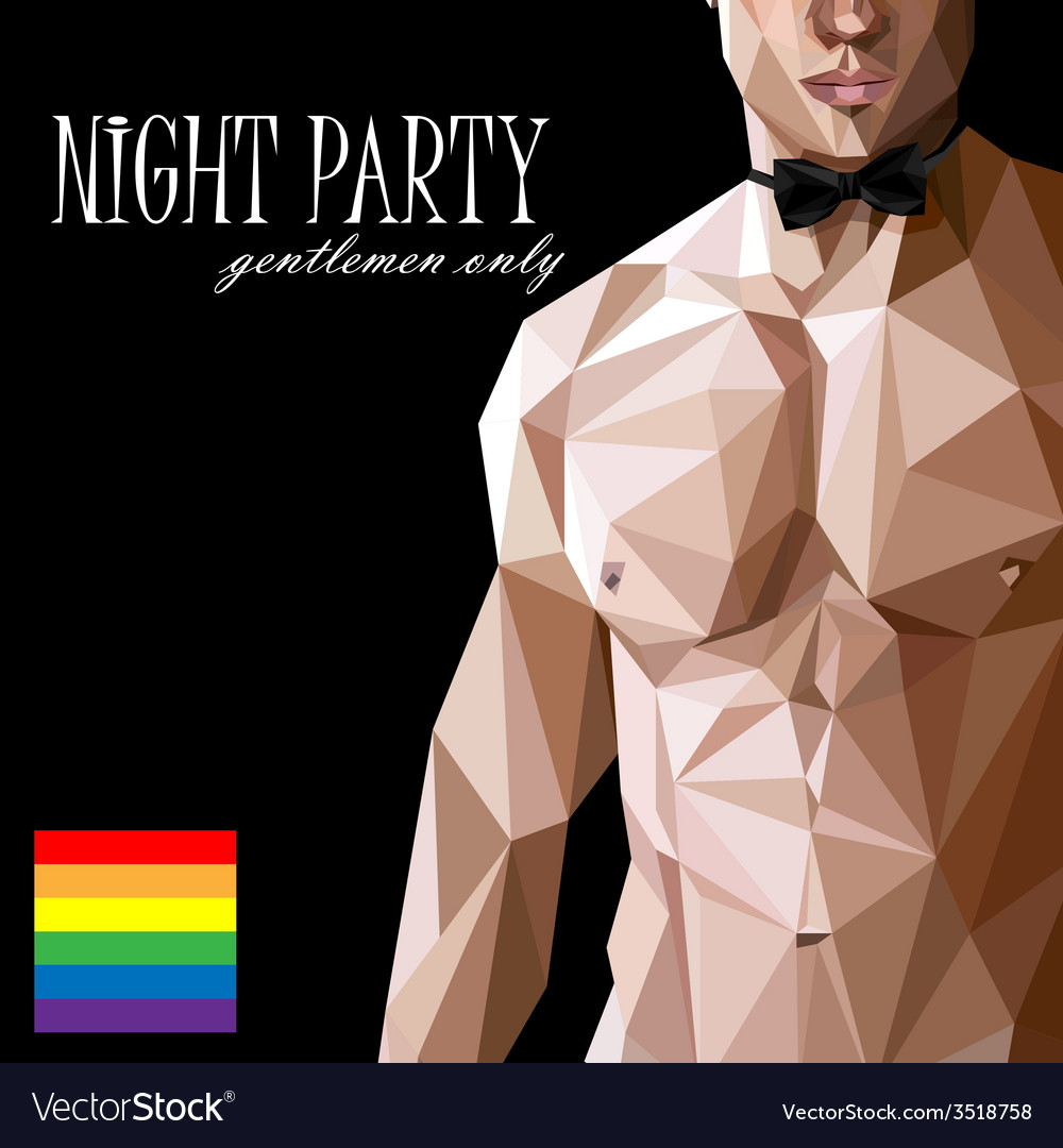 A caucasian or asian man nude fit body with bow vector | Price: 1 Credit (USD $1)