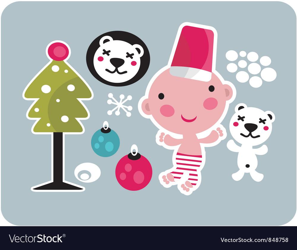 Baby santa vector | Price: 3 Credit (USD $3)
