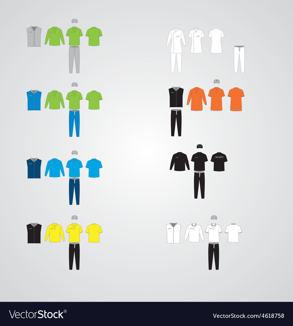 Clothing uniform collection vector | Price: 1 Credit (USD $1)