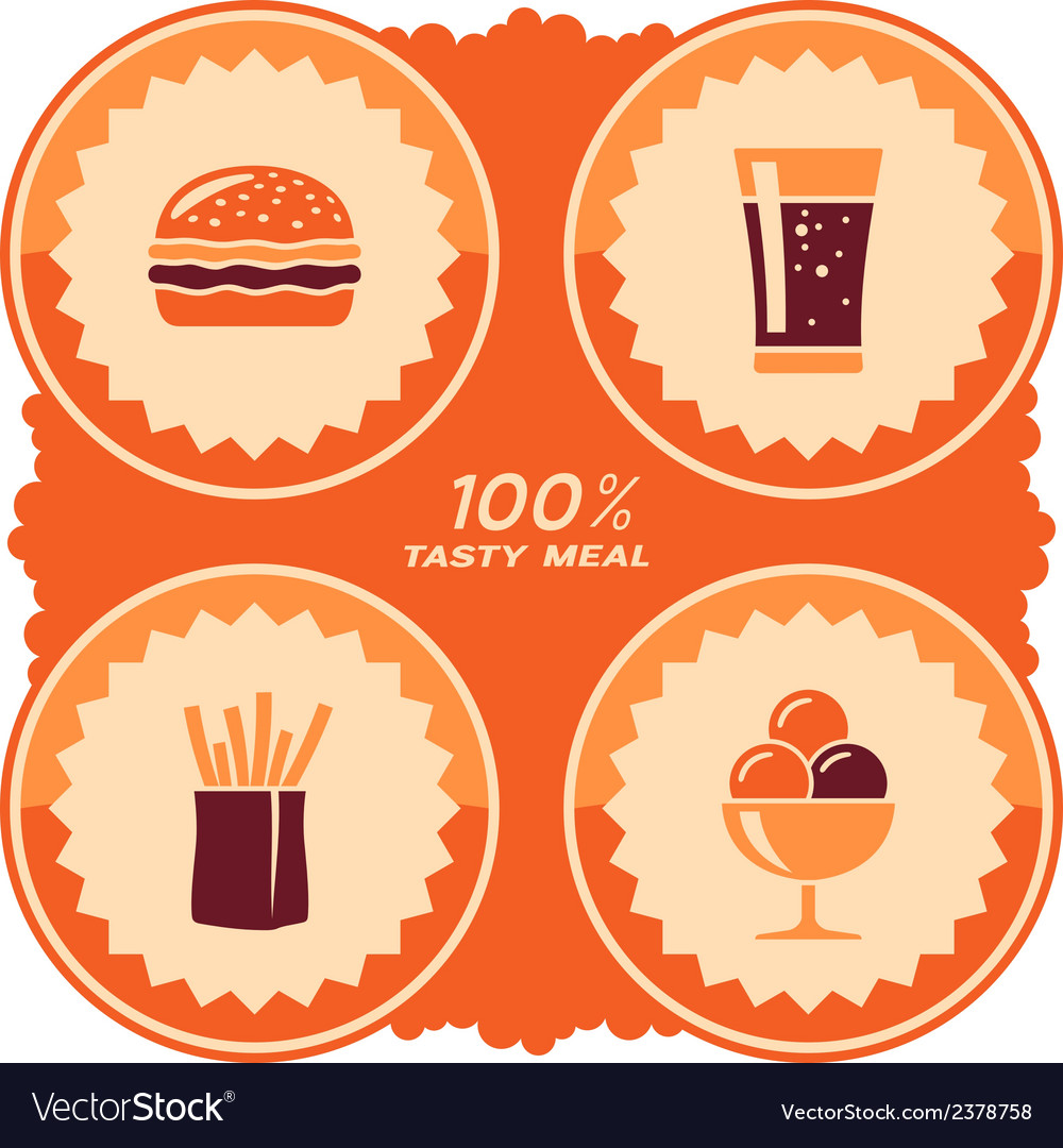 Fast food label vector | Price: 1 Credit (USD $1)