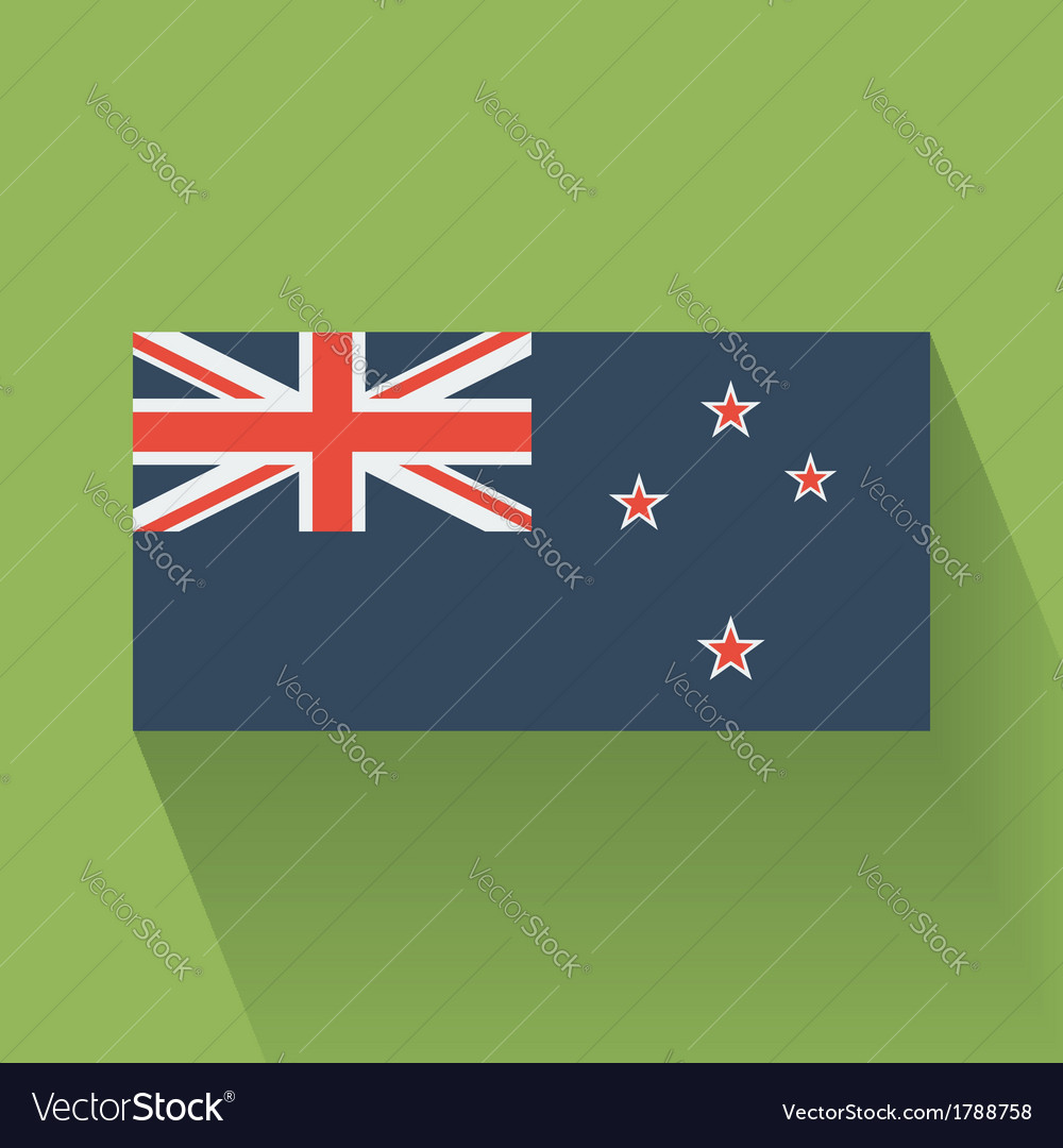Flat flag of new zealand vector | Price: 1 Credit (USD $1)