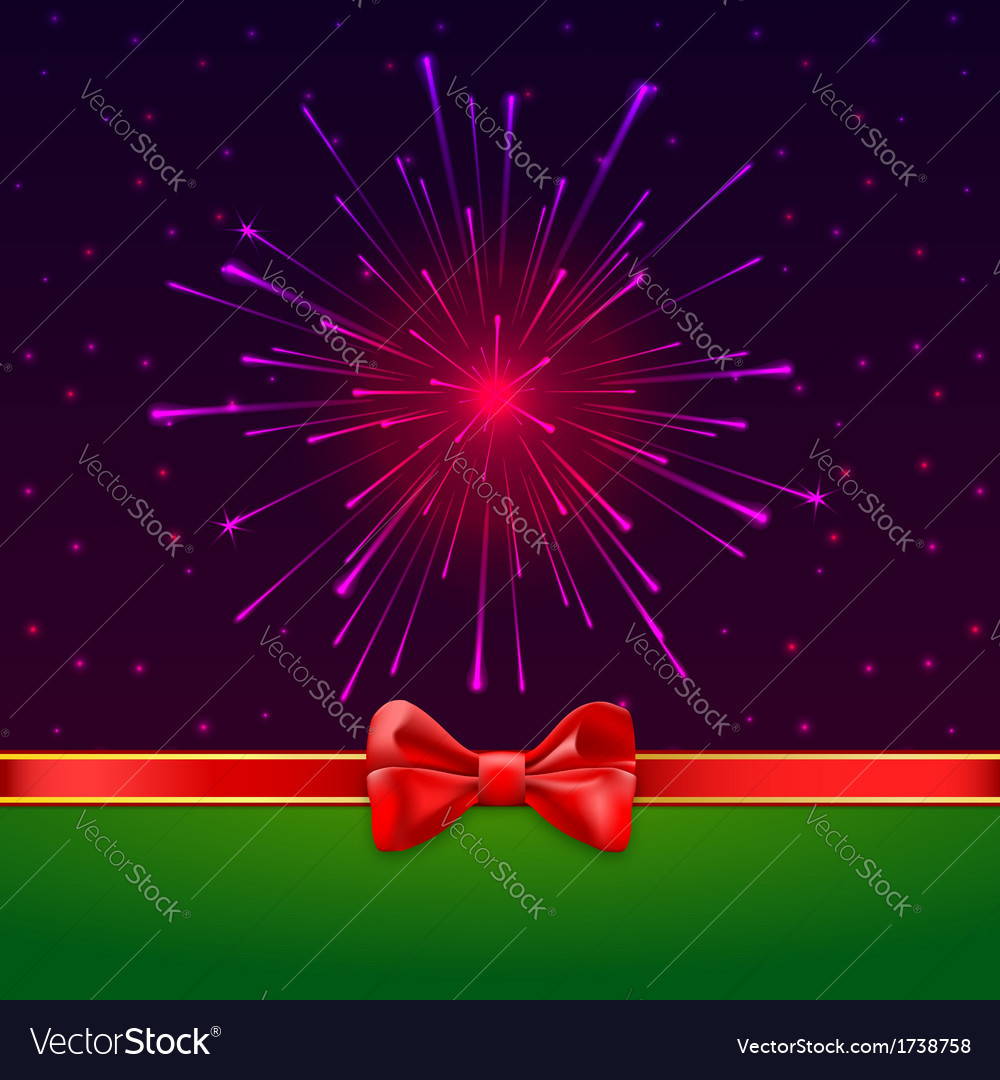 Holiday bright salute background with light rays vector | Price: 1 Credit (USD $1)