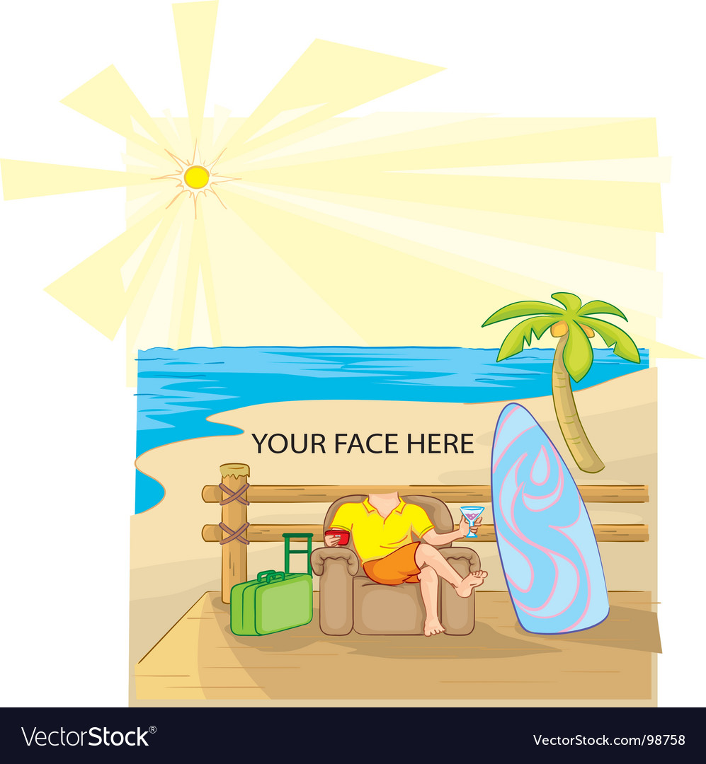 Sunny vacation vector | Price: 1 Credit (USD $1)