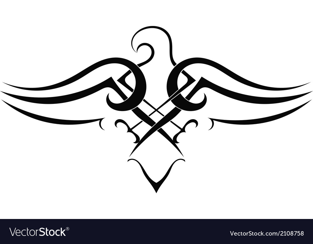 Tattoo eagle on white background vector | Price: 1 Credit (USD $1)