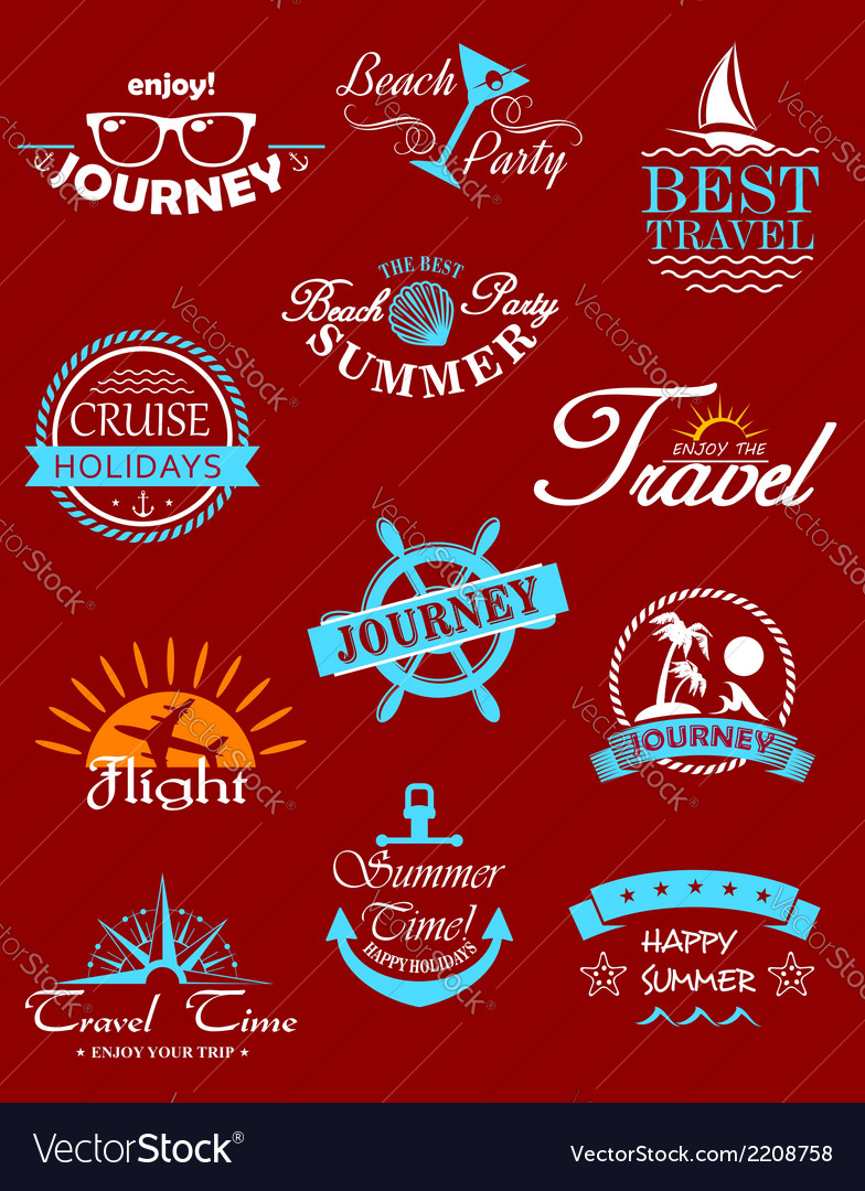 Travel banners and labels vector | Price: 1 Credit (USD $1)
