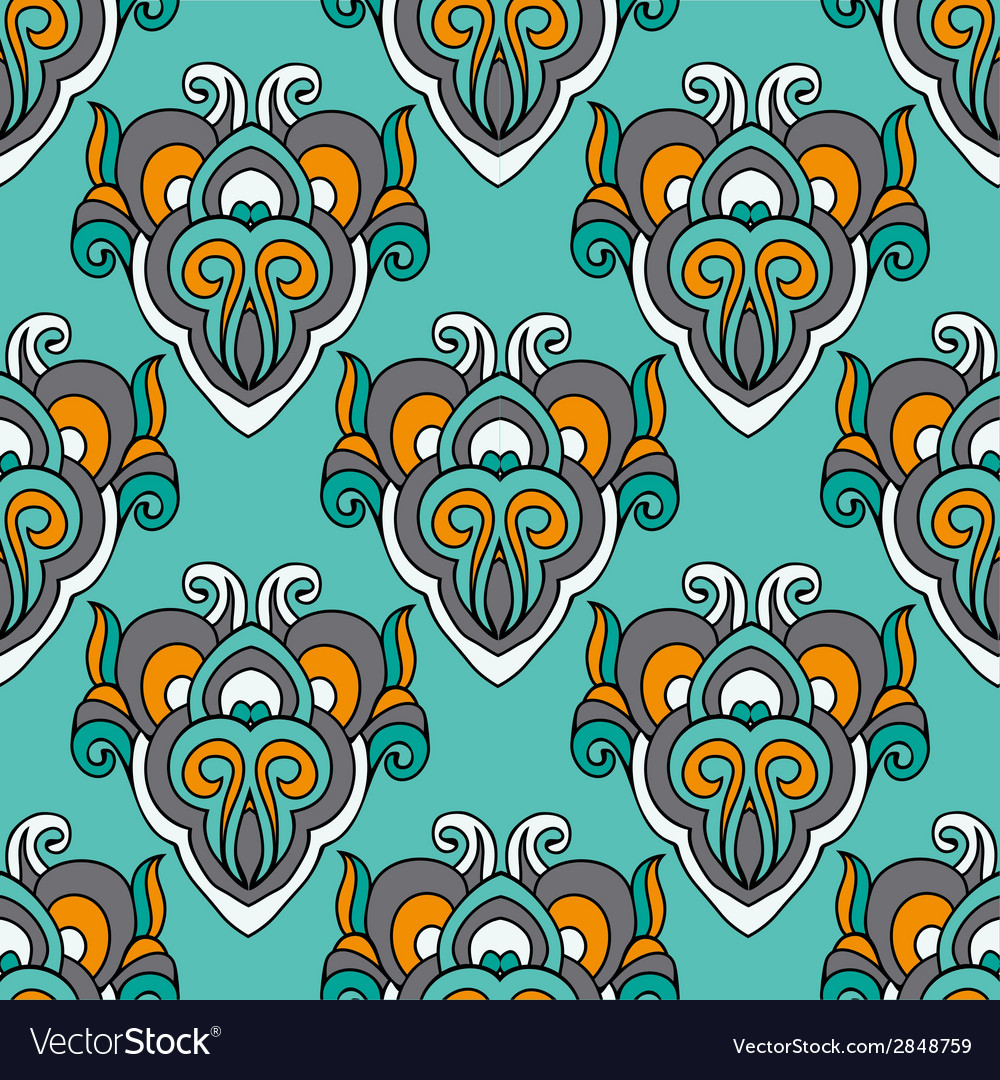 Damask abstract seamless pattern vector | Price: 1 Credit (USD $1)