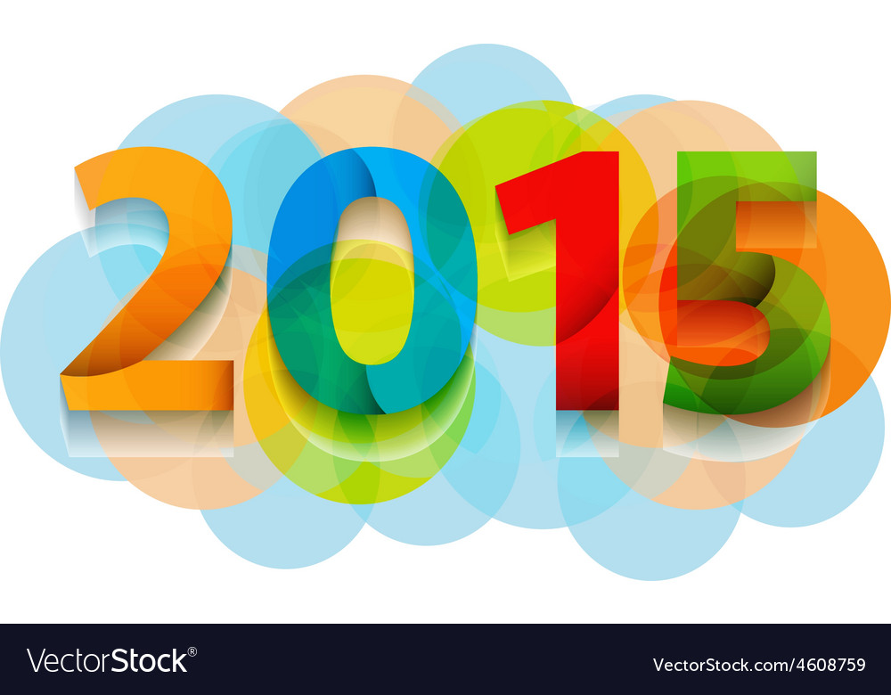 Happy new year 2015 celebration background banner vector | Price: 1 Credit (USD $1)