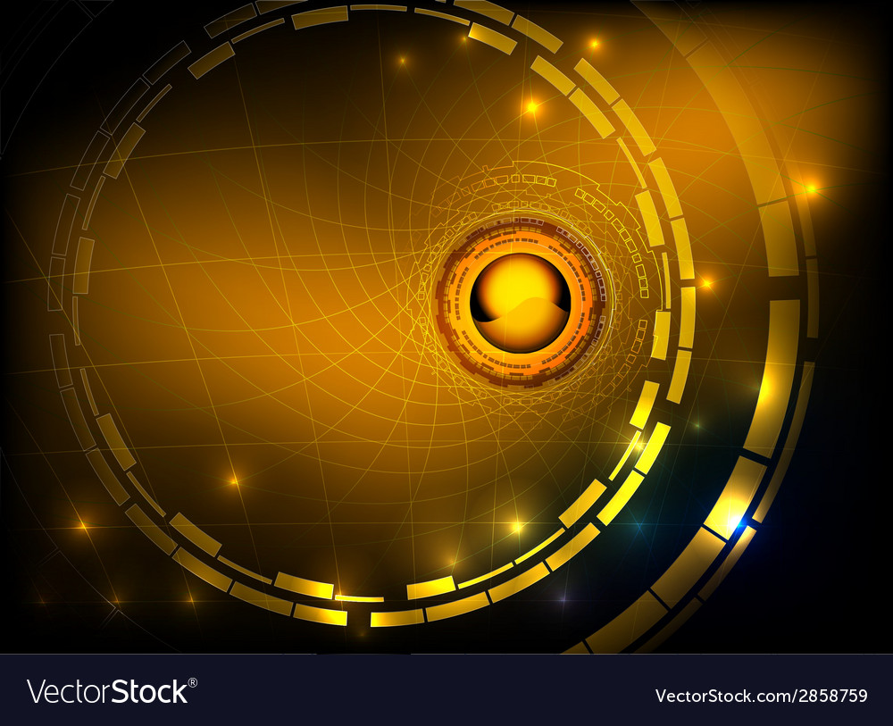 Hi tech gold abstract background vector | Price: 1 Credit (USD $1)