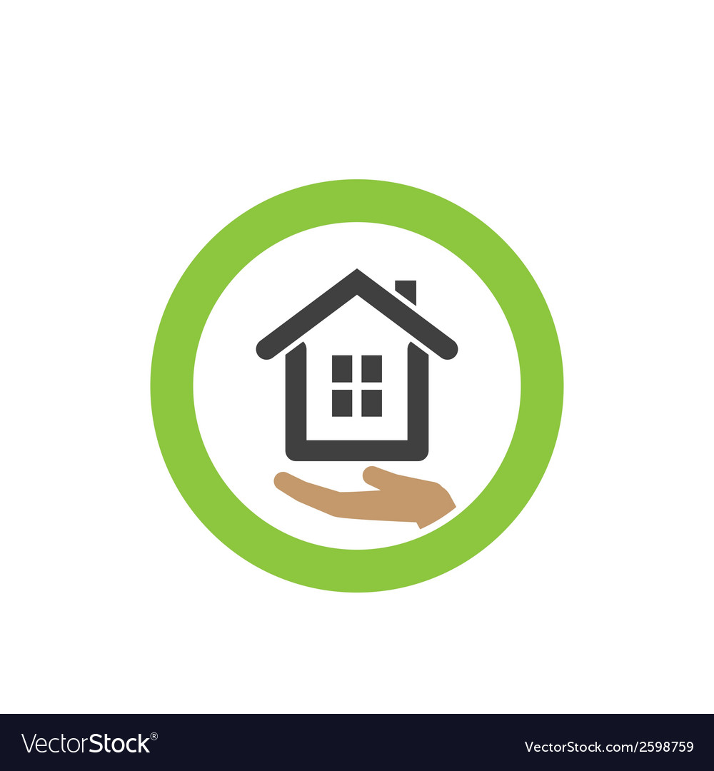 House icon on the palm vector | Price: 1 Credit (USD $1)