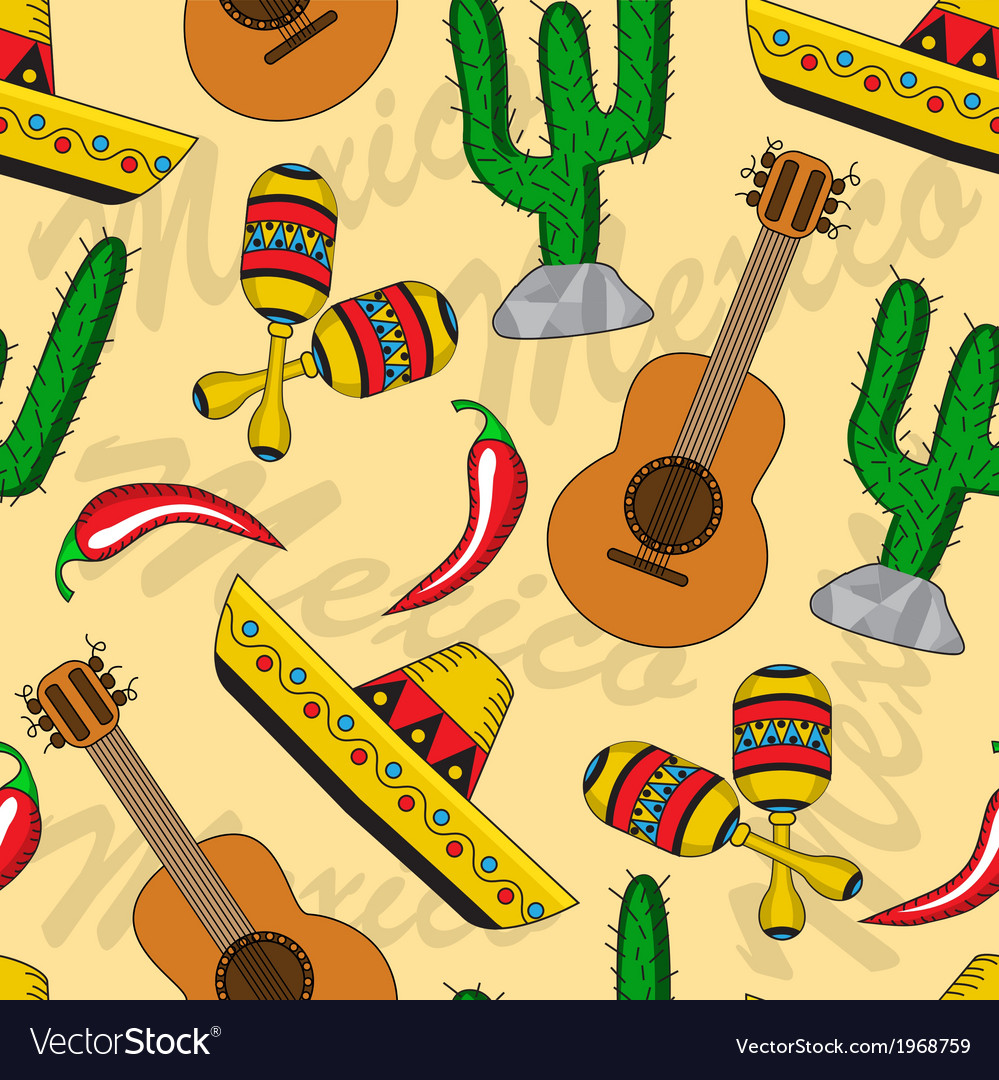 Mexican seamless background vector | Price: 1 Credit (USD $1)
