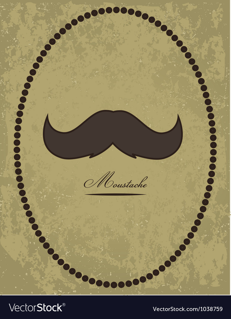Moustache background vector | Price: 1 Credit (USD $1)