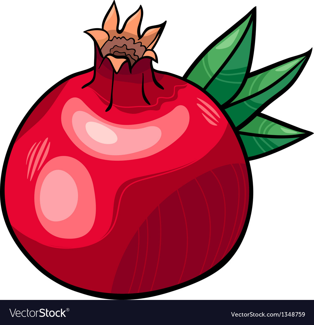 Pomegranate fruit cartoon vector | Price: 1 Credit (USD $1)