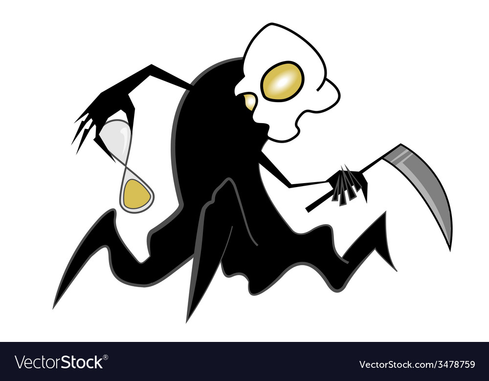 Spooky scythe man vector | Price: 1 Credit (USD $1)