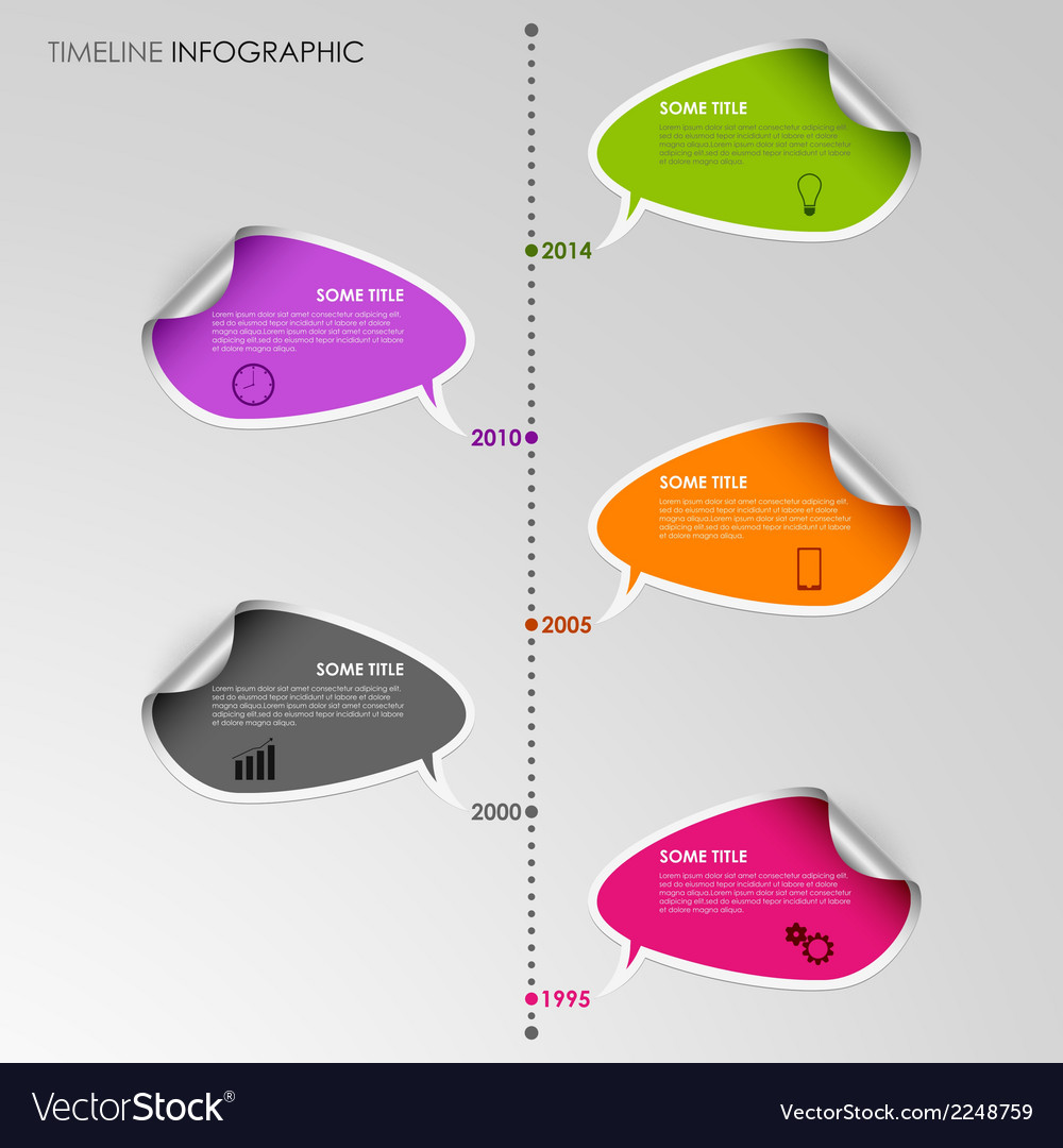 Time line info graphic stickers template vector | Price: 1 Credit (USD $1)
