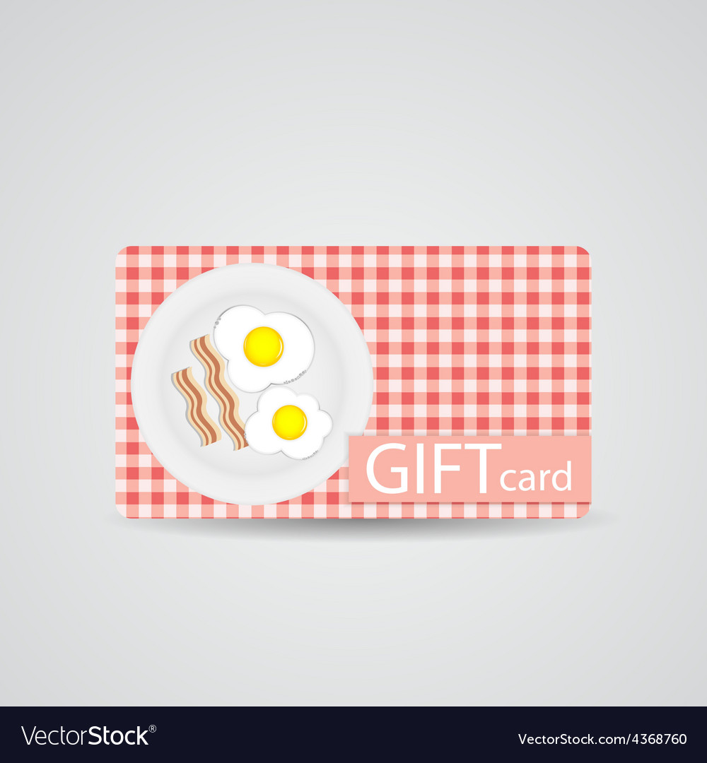 Abstract beautiful breakfast gift card design vector | Price: 1 Credit (USD $1)