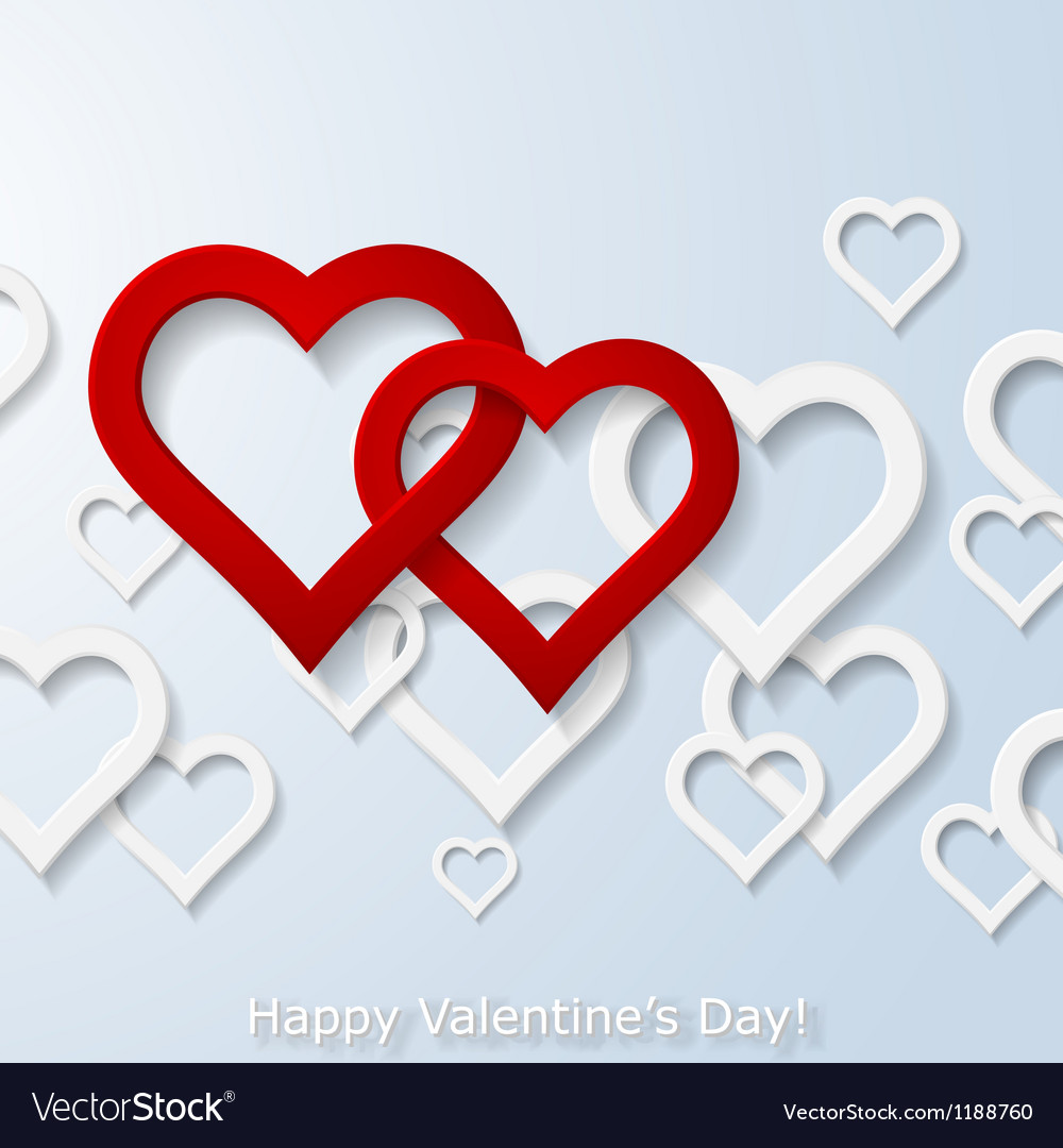 Abstract two flying red hearts vector   Price: 1 Credit (USD $1)