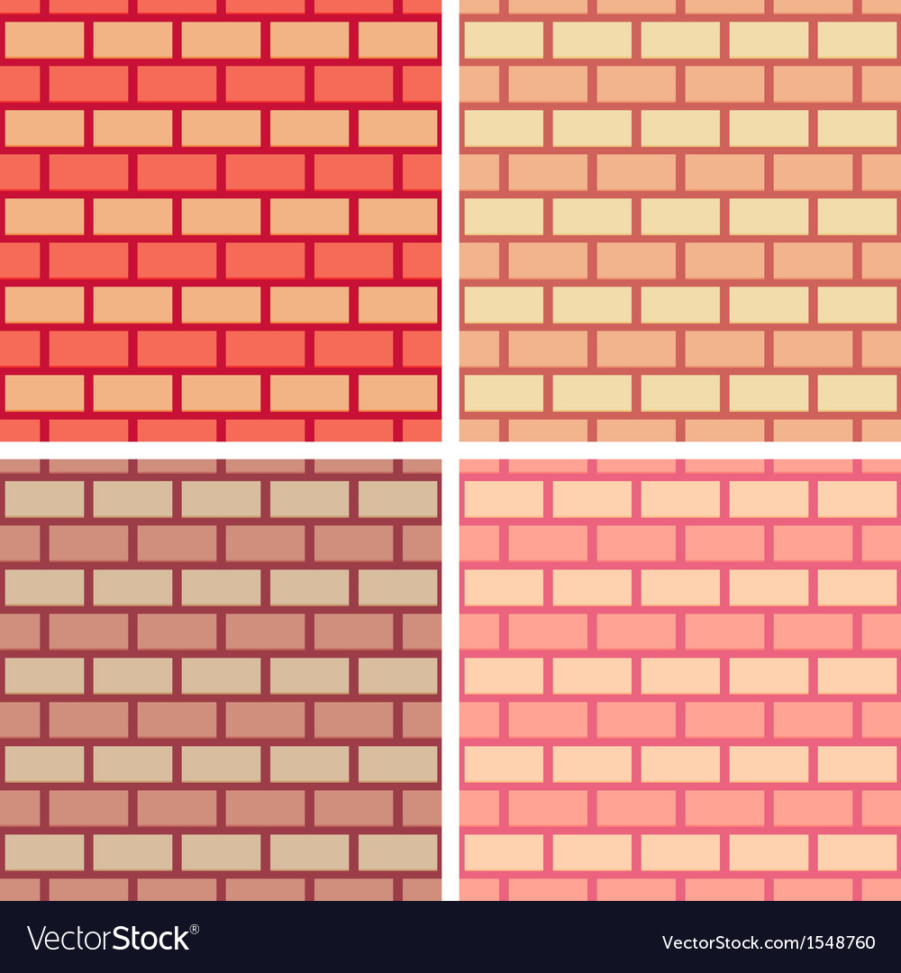 Brickwork seamless pattern collection vector | Price: 1 Credit (USD $1)