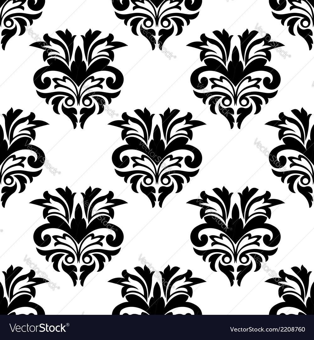 Floral damask style seamless pattern vector | Price: 1 Credit (USD $1)