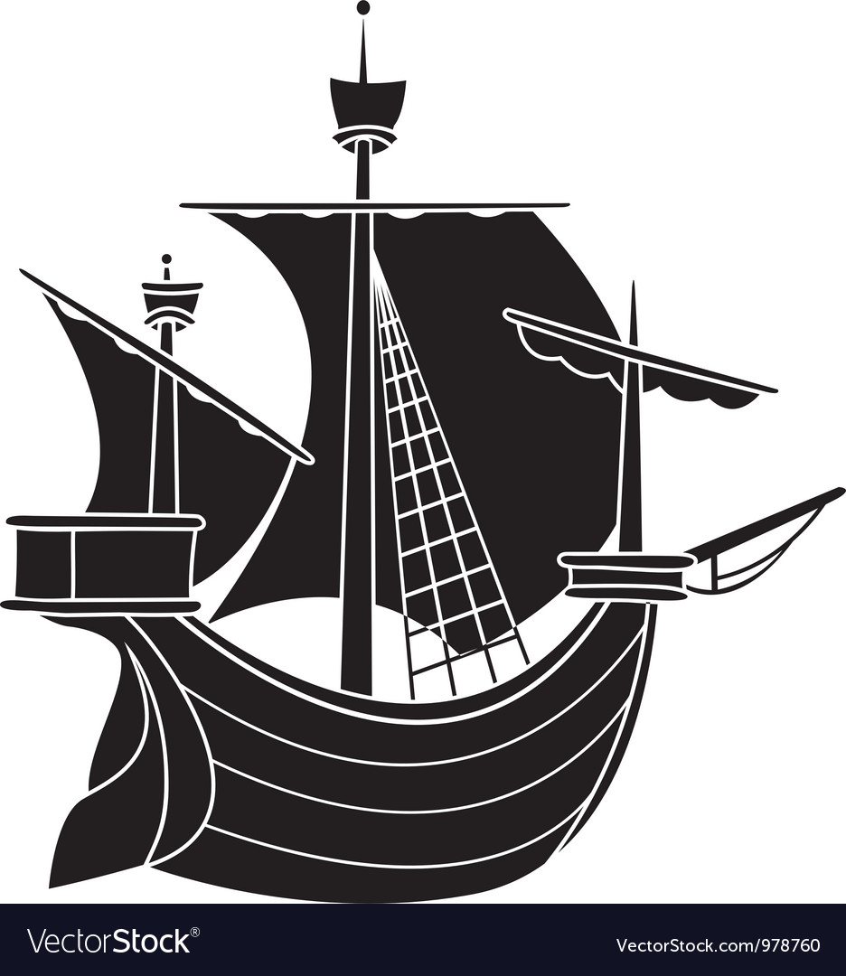 Sailing vessel vector | Price: 1 Credit (USD $1)