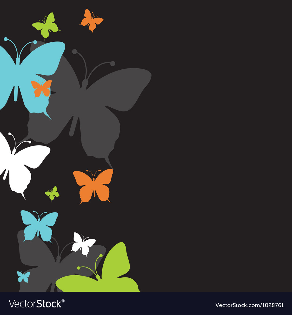 Abstract spring butterfly background vector | Price: 1 Credit (USD $1)