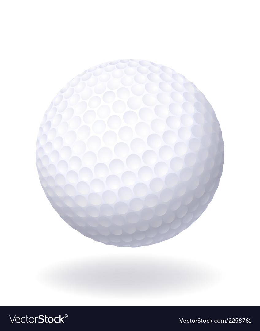 Ball for golf isolated on white background vector | Price: 1 Credit (USD $1)