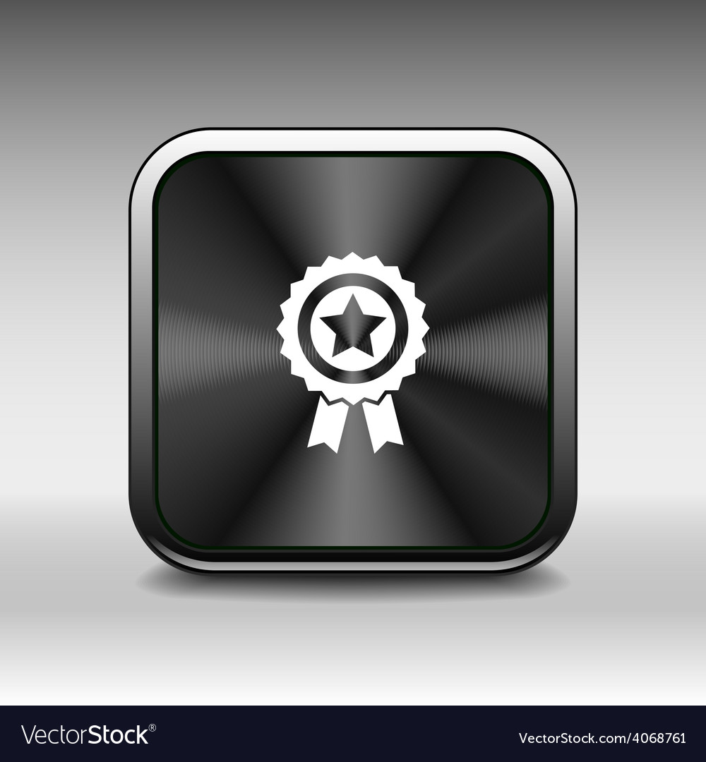 Blue best of badge with ribbon icon award champion vector | Price: 1 Credit (USD $1)