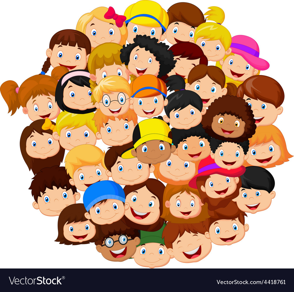 Crowd of children vector | Price: 1 Credit (USD $1)