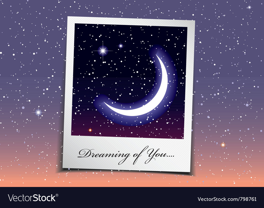 Dreaming of you at night vector | Price: 3 Credit (USD $3)