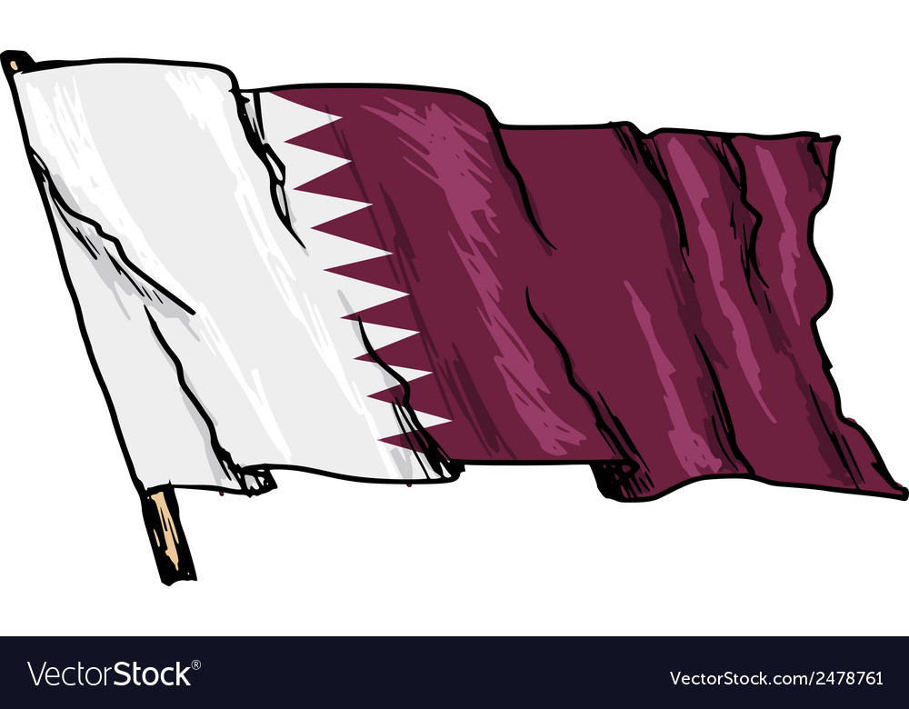 Flag of qatar vector   Price: 1 Credit (USD $1)
