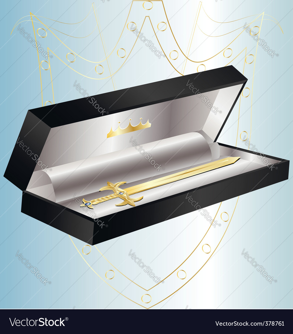 Gift golden sword vector | Price: 1 Credit (USD $1)