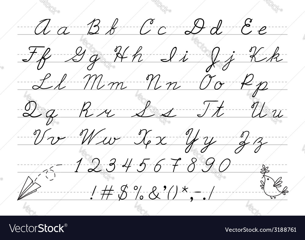 Hand drawn uppercase calligraphic alphabet and vector | Price: 1 Credit (USD $1)