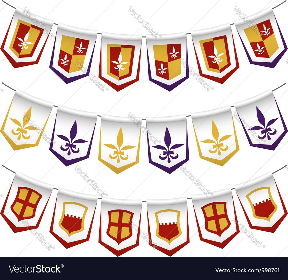 Heraldic bunting flags vector | Price: 1 Credit (USD $1)