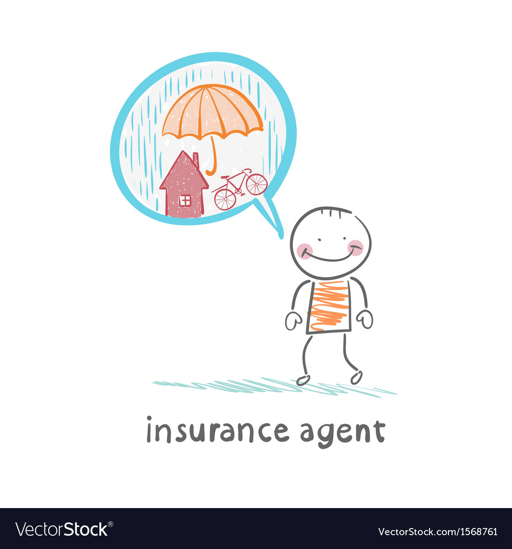 Insurance agent is thinking about insurance vector | Price: 1 Credit (USD $1)