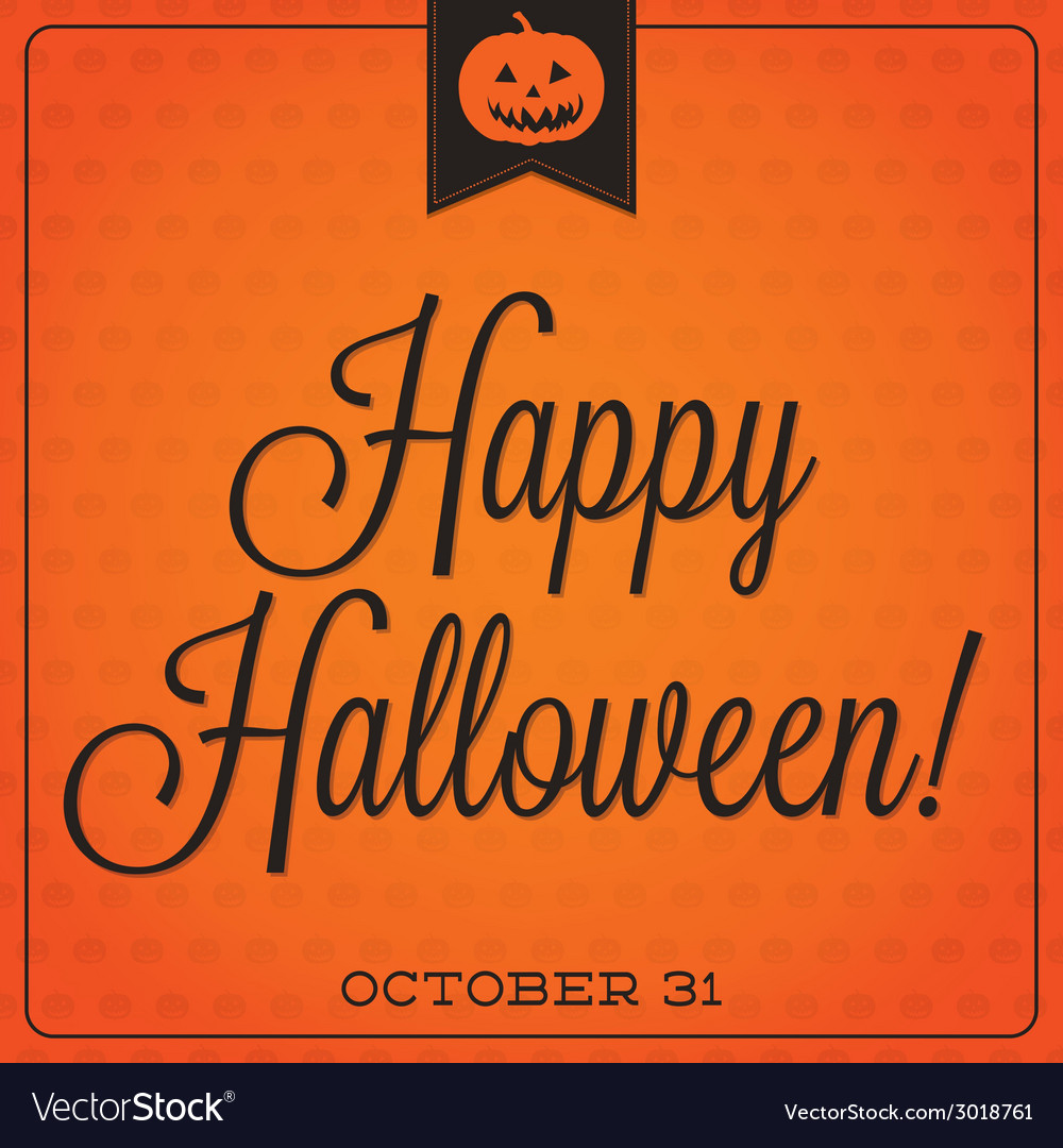 Jack olantern retro typographic halloween vector | Price: 1 Credit (USD $1)