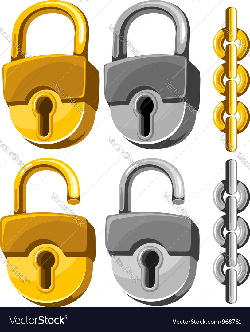 Padlock set vector | Price: 1 Credit (USD $1)