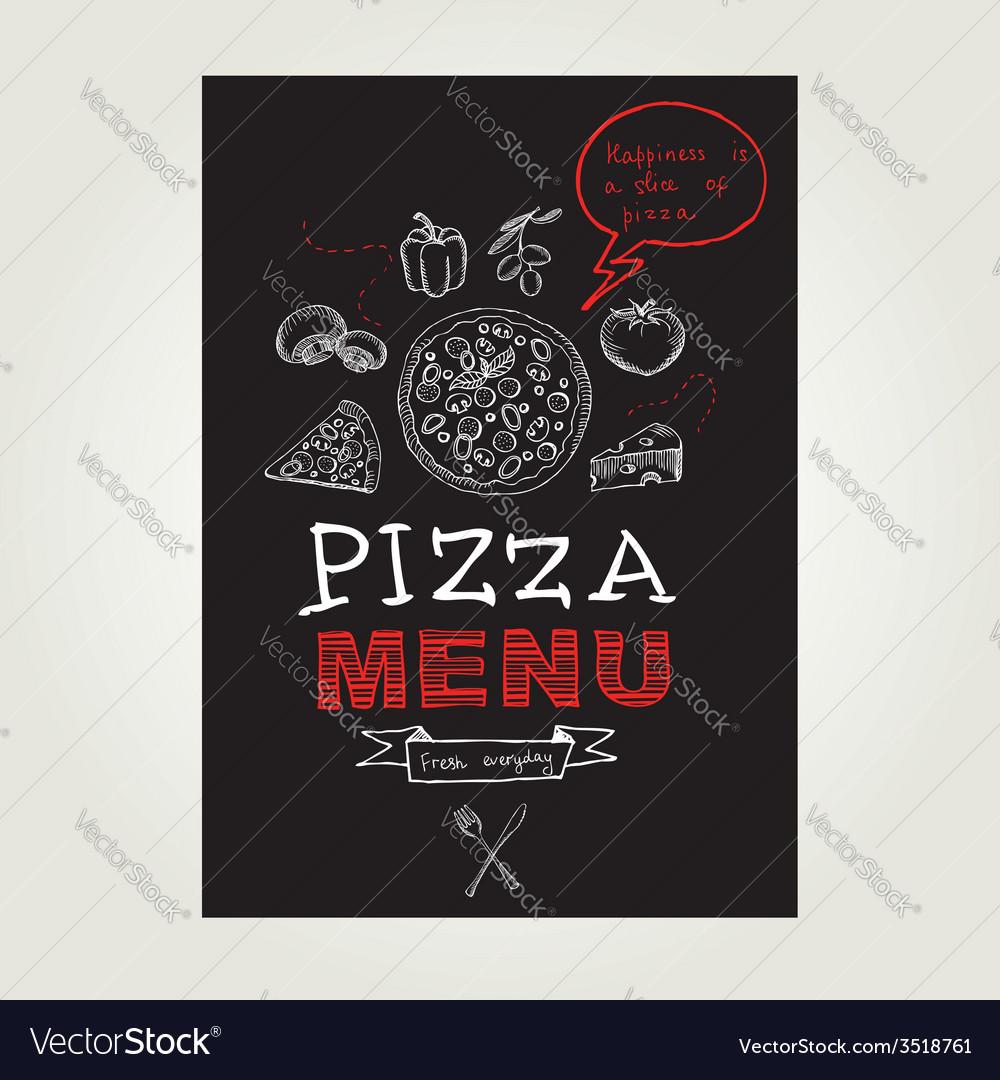Restaurant cafe pizza menu template design vector | Price: 1 Credit (USD $1)