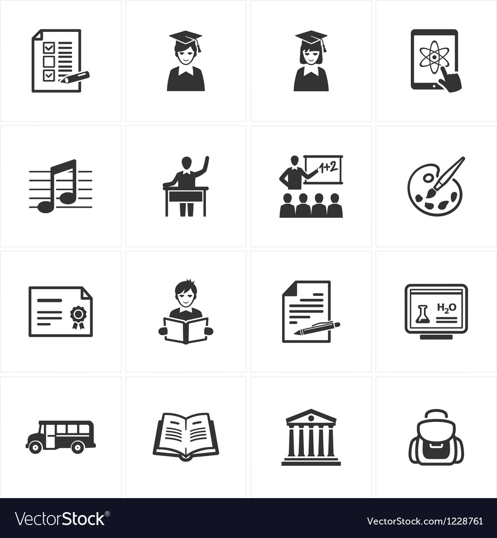 School and education icons - set 2 vector   Price: 1 Credit (USD $1)
