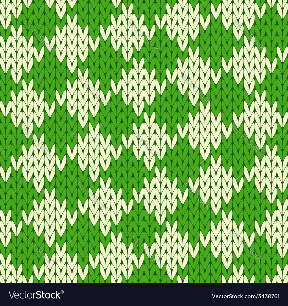 Seamless geometrical knitted pattern vector | Price: 1 Credit (USD $1)