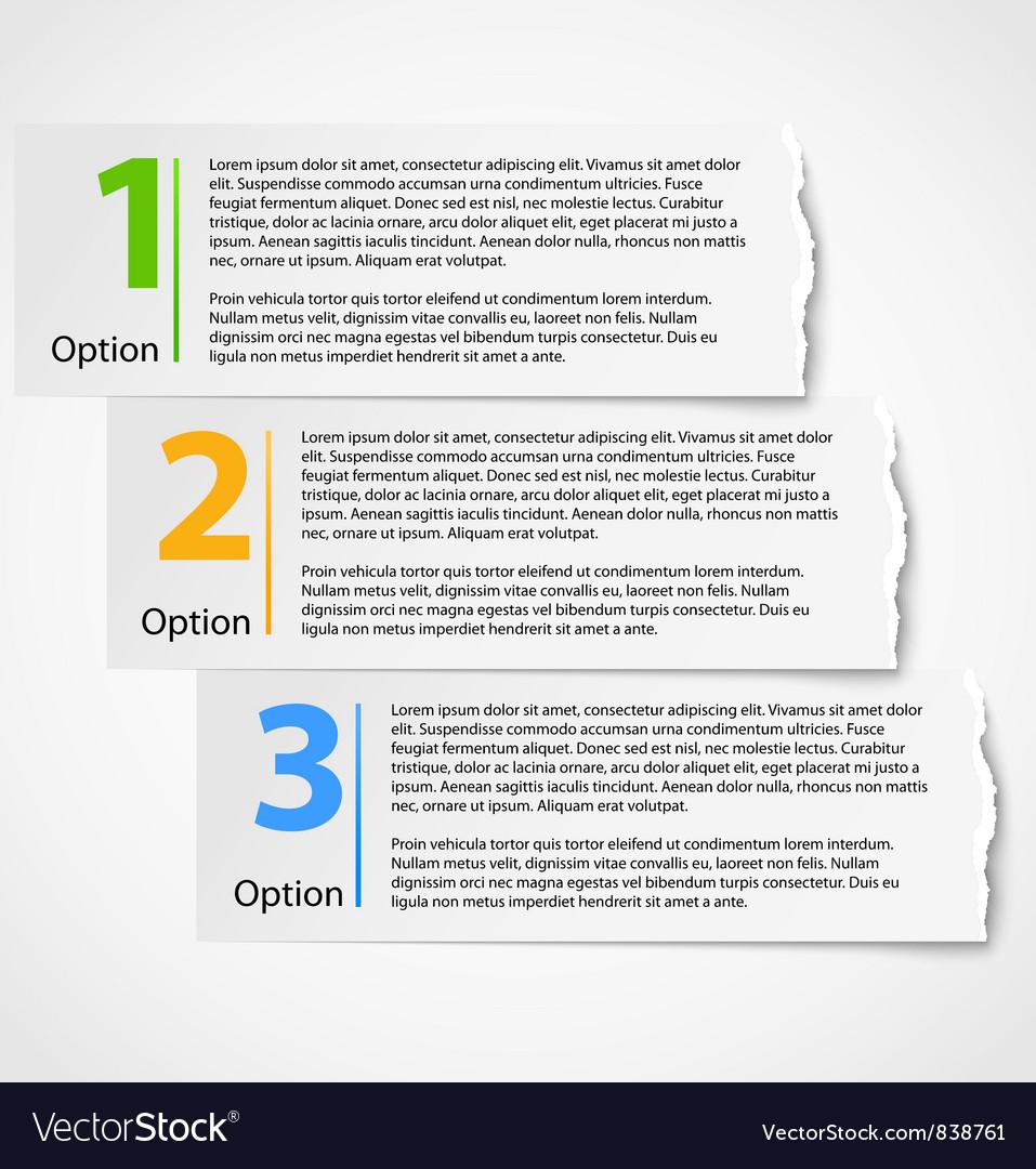 Torn paper progress option background vector | Price: 1 Credit (USD $1)
