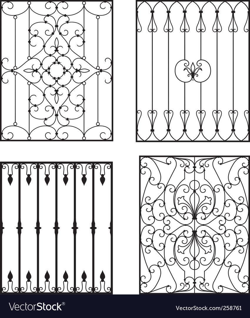 Wrought iron vector | Price: 1 Credit (USD $1)