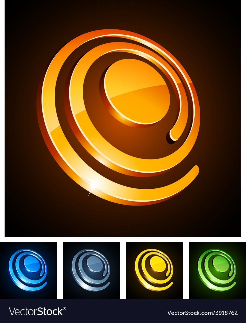3d vibrant spirals vector | Price: 1 Credit (USD $1)