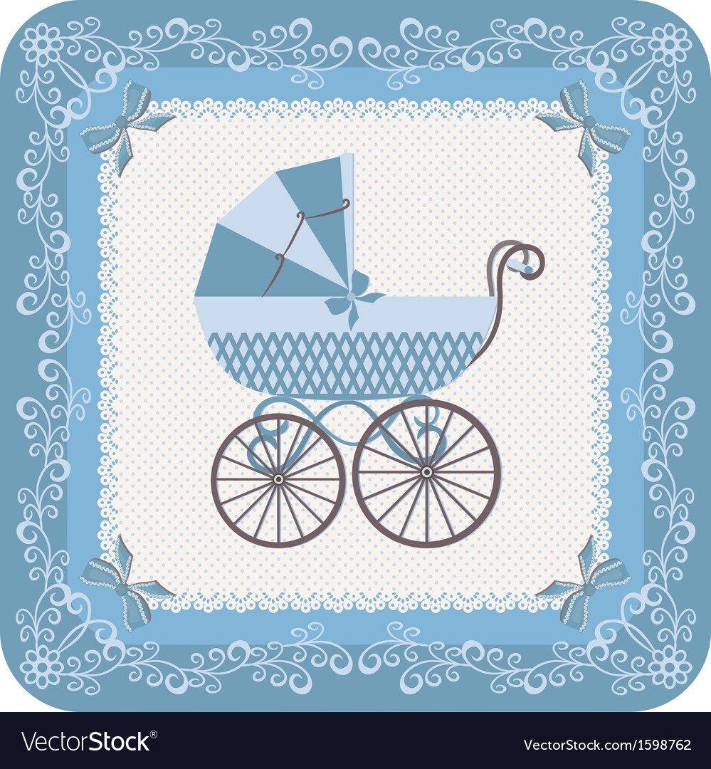 Baby boy carriage vector | Price: 1 Credit (USD $1)