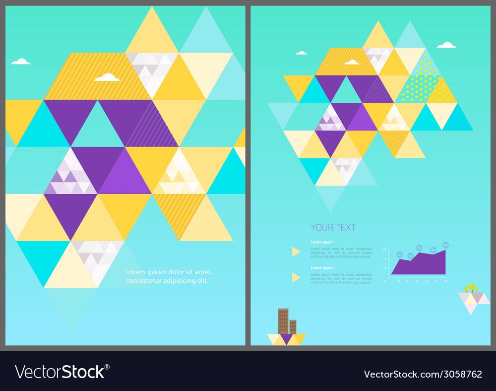 Eco geometric brochure template vector | Price: 1 Credit (USD $1)