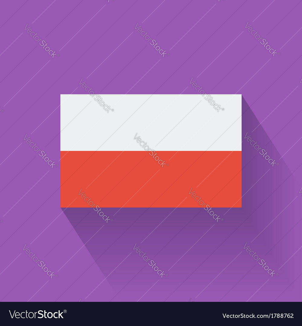Flat flag of poland vector | Price: 1 Credit (USD $1)
