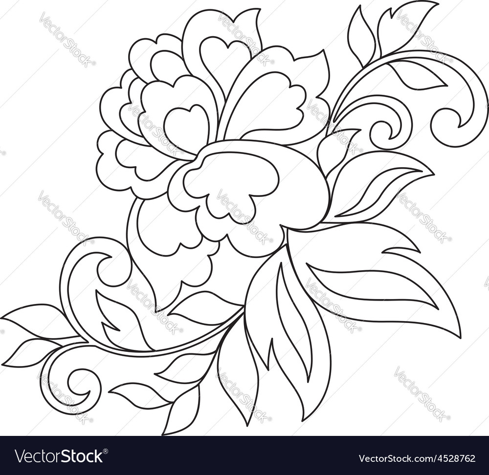 Flower ornament hand drawn vector | Price: 1 Credit (USD $1)
