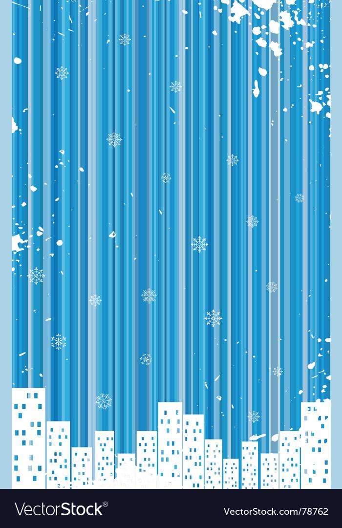 Grunge retro winter background vector | Price: 1 Credit (USD $1)