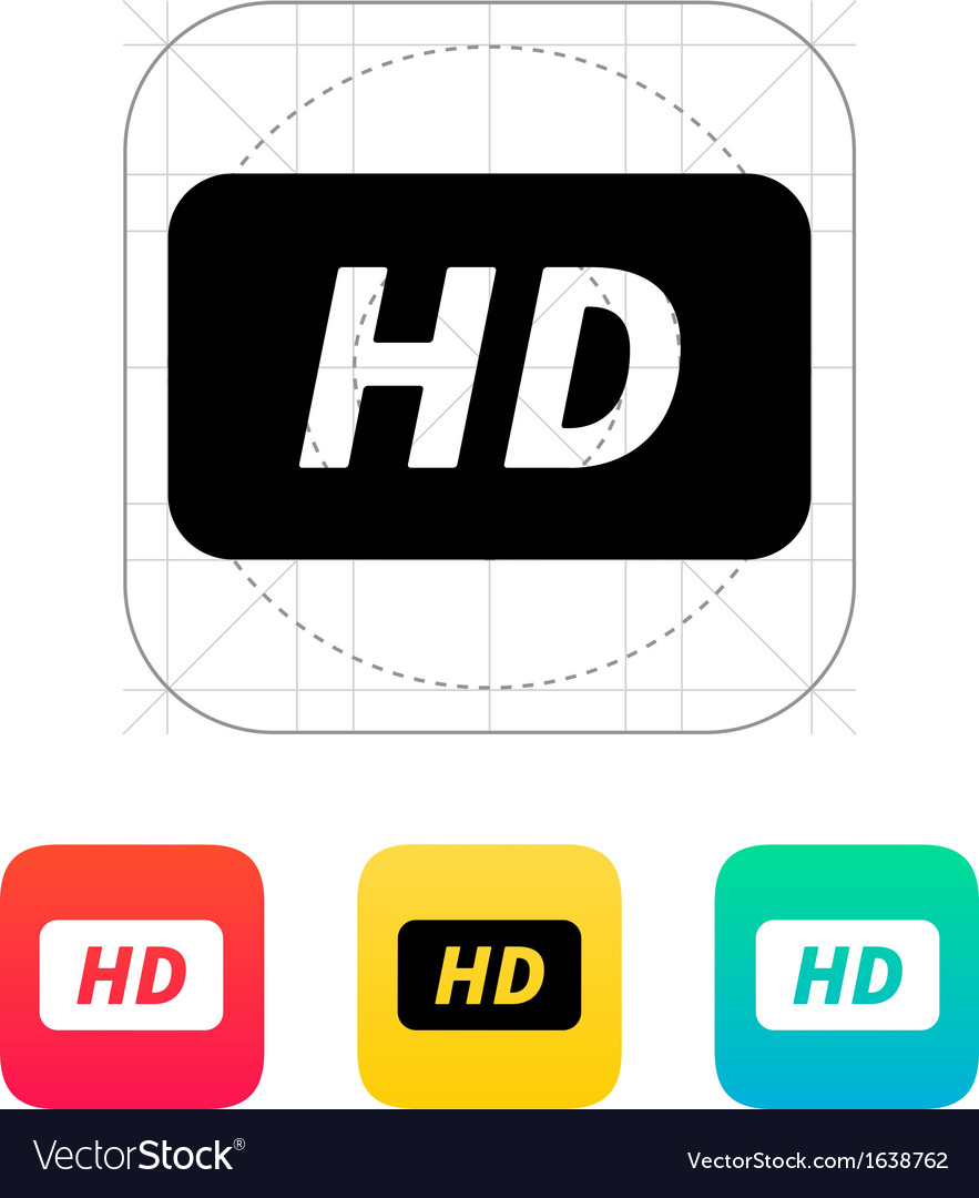 High definition icon vector | Price: 1 Credit (USD $1)